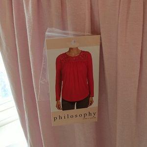 Philosophy Tops - Philosophy Crochet Top